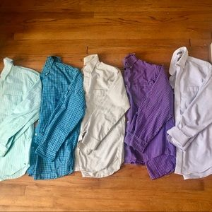 LIKE NEW Set of 5 Men's Button Down Polo Shirts